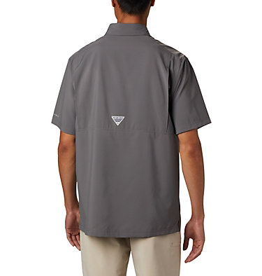 Men's PFG Grander Marlin™ Woven Short Sleeve Shirt Grander Marlin™ Woven SS | 487 | L, City Grey, back