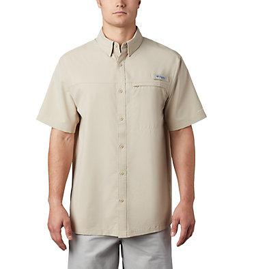 Men's PFG Grander Marlin™ Woven Short Sleeve Shirt Grander Marlin™ Woven SS | 487 | L, Fossil, front
