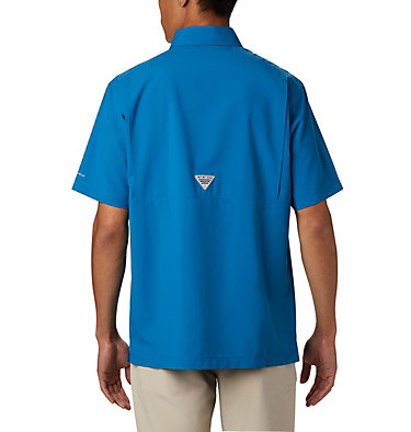 Men's PFG Grander Marlin™ Woven Short Sleeve Shirt Grander Marlin™ Woven SS | 487 | L, Dark Pool, back