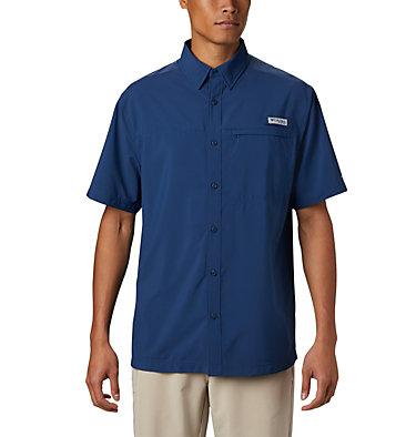 Men's PFG Grander Marlin™ Woven Short Sleeve Shirt Grander Marlin™ Woven SS | 487 | L, Carbon, front