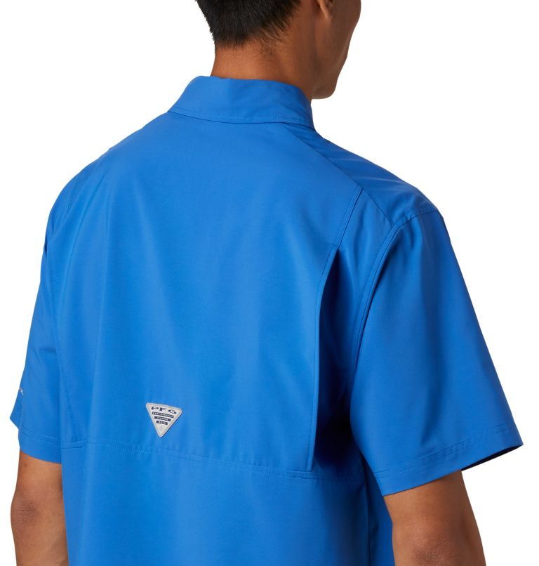 Grander Marlin™ Woven SS | 487 | S Men's PFG Grander Marlin™ Woven Short Sleeve Shirt, Vivid Blue, a2
