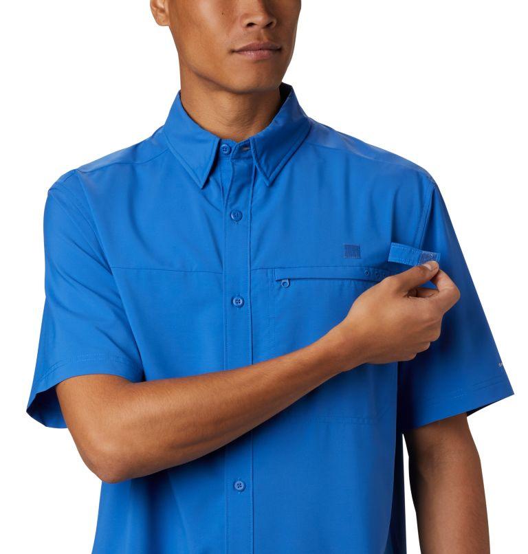Grander Marlin™ Woven SS | 487 | S Men's PFG Grander Marlin™ Woven Short Sleeve Shirt, Vivid Blue, a3