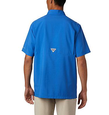 Men's PFG Grander Marlin™ Woven Short Sleeve Shirt Grander Marlin™ Woven SS | 487 | L, Vivid Blue, back
