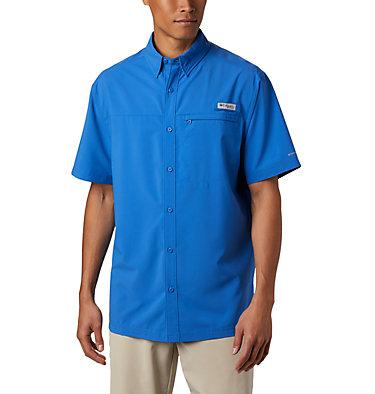 Men's PFG Grander Marlin™ Woven Short Sleeve Shirt Grander Marlin™ Woven SS | 487 | L, Vivid Blue, front