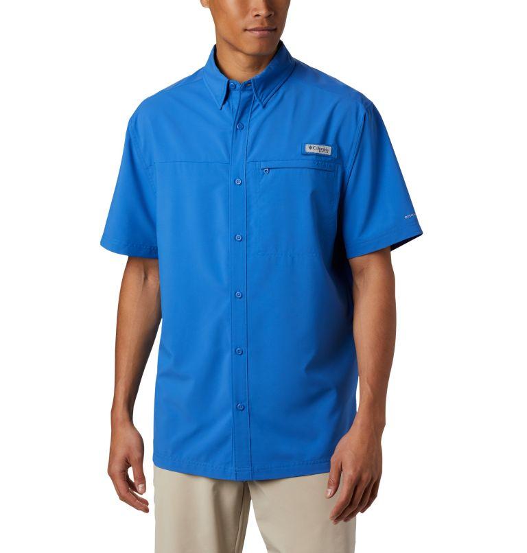 Grander Marlin™ Woven SS | 487 | S Men's PFG Grander Marlin™ Woven Short Sleeve Shirt, Vivid Blue, front