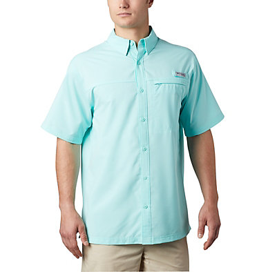 Men's PFG Grander Marlin™ Woven Short Sleeve Shirt Grander Marlin™ Woven SS | 487 | L, Gulf Stream, front