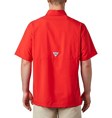 Men's PFG Grander Marlin™ Woven Short Sleeve Shirt Grander Marlin™ Woven SS | 487 | L, Red Spark, back