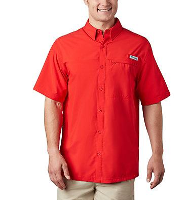 Men's PFG Grander Marlin™ Woven Short Sleeve Shirt Grander Marlin™ Woven SS | 487 | L, Red Spark, front
