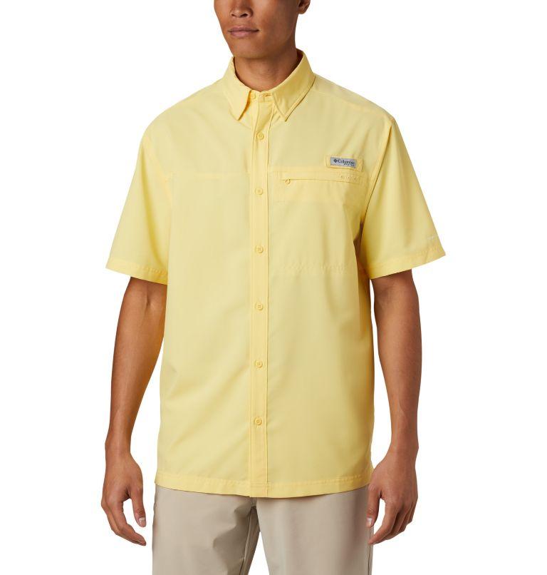 Grander Marlin™ Woven SS | 707 | S Men's PFG Grander Marlin™ Woven Short Sleeve Shirt, Sunlit, front