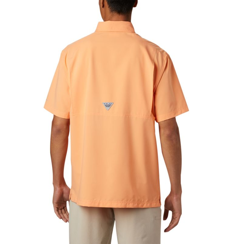 Grander Marlin™ Woven SS | 873 | XXL Men's PFG Grander Marlin™ Woven Short Sleeve Shirt, Bright Nectar, back