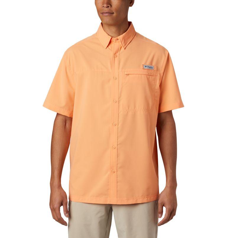 Grander Marlin™ Woven SS | 873 | XXL Men's PFG Grander Marlin™ Woven Short Sleeve Shirt, Bright Nectar, front