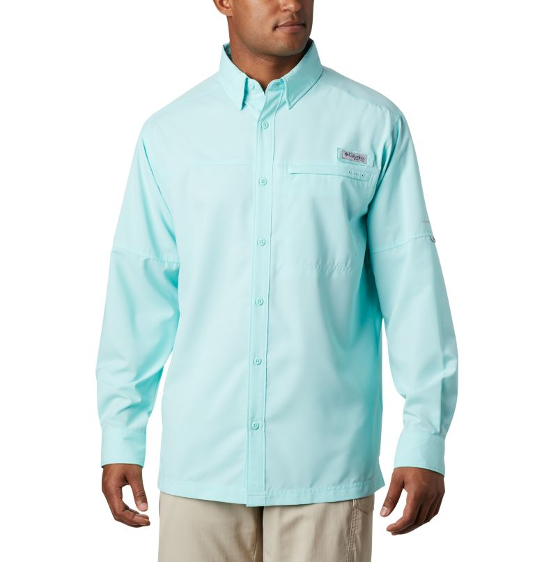 Grander Marlin™ Woven LS | 499 | L Men's PFG Grander Marlin™ Woven Long Sleeve Shirt, Gulf Stream, front