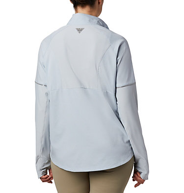 Women's PFG Ultimate Catch ZERO™ Long Sleeve Hybrid Shirt Ultimate Catch ZERO™ LS Hybrid | 807 | L, Cirrus Grey, back