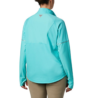 Women's PFG Ultimate Catch ZERO™ Long Sleeve Hybrid Shirt Ultimate Catch ZERO™ LS Hybrid | 807 | L, Dolphin, back