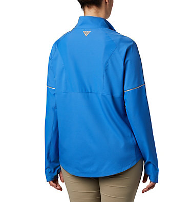 Women's PFG Ultimate Catch ZERO™ Long Sleeve Hybrid Shirt Ultimate Catch ZERO™ LS Hybrid | 807 | L, Stormy Blue, back