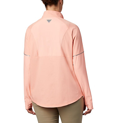 Women's PFG Ultimate Catch ZERO™ Long Sleeve Hybrid Shirt Ultimate Catch ZERO™ LS Hybrid | 807 | L, Tiki Pink, back