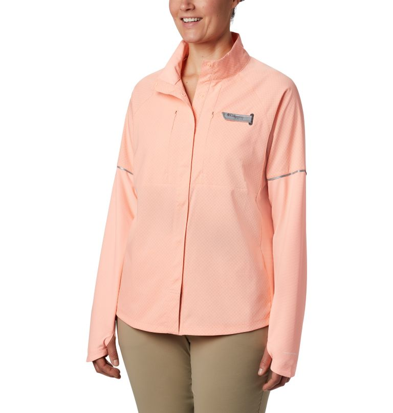 Women's PFG Ultimate Catch ZERO™ Long Sleeve Hybrid Shirt Women's PFG Ultimate Catch ZERO™ Long Sleeve Hybrid Shirt, front