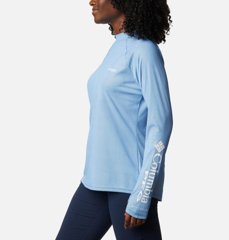 Tidal Deflector ZERO™ Mock LS | 463 | XL Women's PFG Tidal Deflector™ Zero Mock Long Sleeve Shirt, Azure Blue, a1