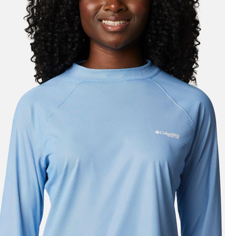 Tidal Deflector ZERO™ Mock LS | 463 | S Women's PFG Tidal Deflector™ Zero Mock Long Sleeve Shirt, Azure Blue, a2