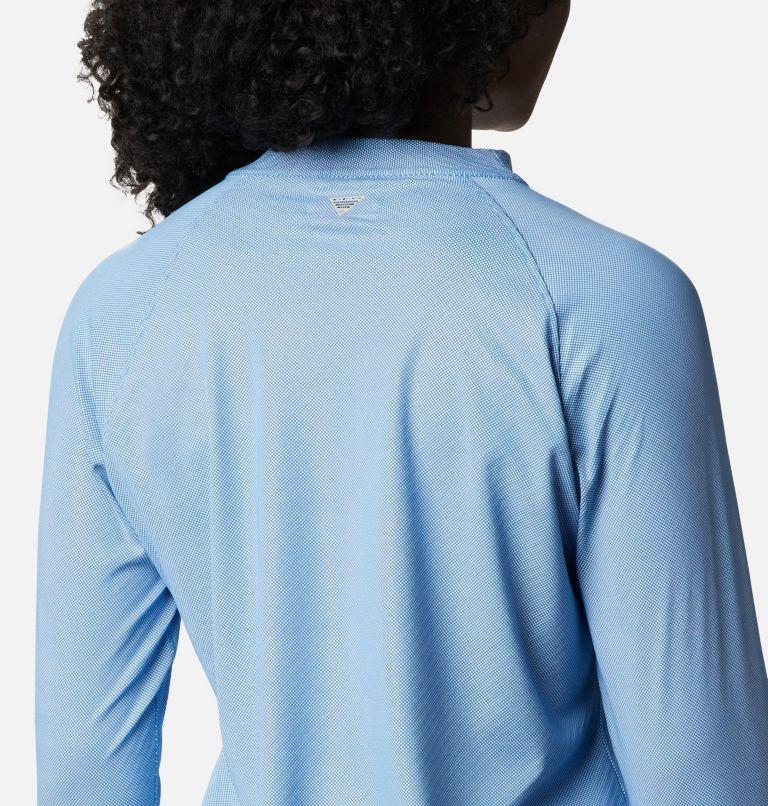 Tidal Deflector ZERO™ Mock LS | 463 | S Women's PFG Tidal Deflector™ Zero Mock Long Sleeve Shirt, Azure Blue, a3