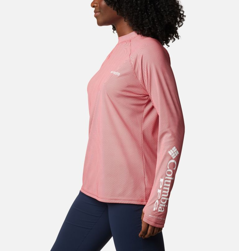 Women's PFG Tidal Deflector™ Zero Mock Long Sleeve Shirt Women's PFG Tidal Deflector™ Zero Mock Long Sleeve Shirt, a1
