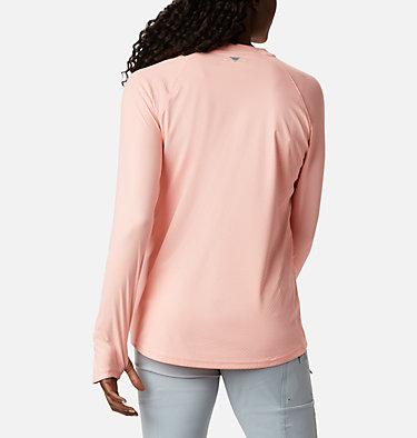 Women's PFG Tidal Deflector™ Zero Mock Long Sleeve Shirt Tidal Deflector ZERO™ Mock LS | 463 | S, Tiki Pink, back