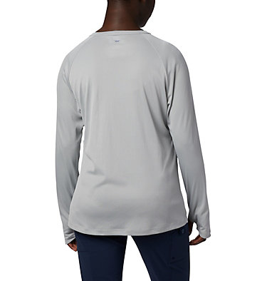 Women's PFG Buoy™ Knit Long Sleeve Shirt W PFG Buoy™ Knit LS | 019 | L, Cool Grey, back