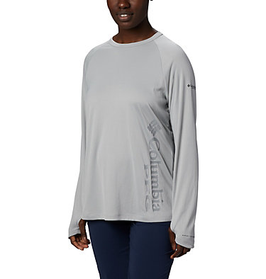 Women's PFG Buoy™ Knit Long Sleeve Shirt W PFG Buoy™ Knit LS | 019 | L, Cool Grey, front