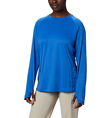 Women's PFG Buoy™ Knit Long Sleeve Shirt W PFG Buoy™ Knit LS | 019 | L, Vivid Blue, front