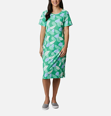 Women's PFG Freezer™ Mid Dress Freezer™ Mid Dress | 463 | L, Emerald City Ditsy Leaves Print, front