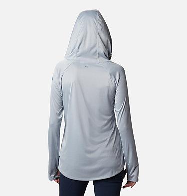 Women's PFG Tidal Tee™ Heather Hoodie Tidal Tee™ Heather Hoodie   450   XS, Cirrus Grey, Stormy Blue Logo, back