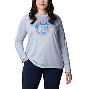 Women's PFG Tidal™ Printed Medallion Long Sleeve T-Shirt – Plus Size