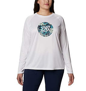 Women's PFG Tidal™ Printed Medallion Long Sleeve T-Shirt – Plus Size