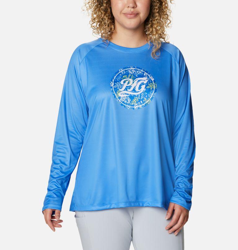 Women's PFG Tidal™ Printed Medallion Long Sleeve T-Shirt – Plus Size Women's PFG Tidal™ Printed Medallion Long Sleeve T-Shirt – Plus Size, front