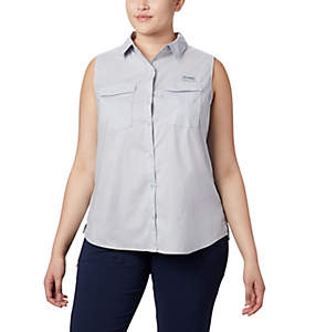 Women's PFG Bonehead™ Stretch Sleeveless T-Shirt – Plus Size