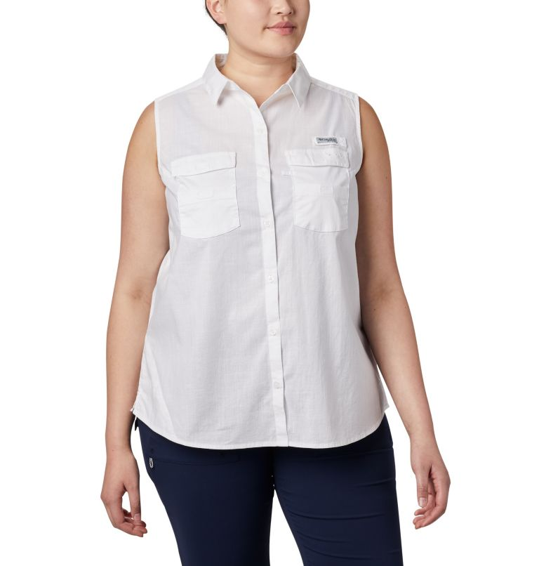 Women's PFG Bonehead™ Stretch Sleeveless Shirt – Plus Size Women's PFG Bonehead™ Stretch Sleeveless Shirt – Plus Size, front