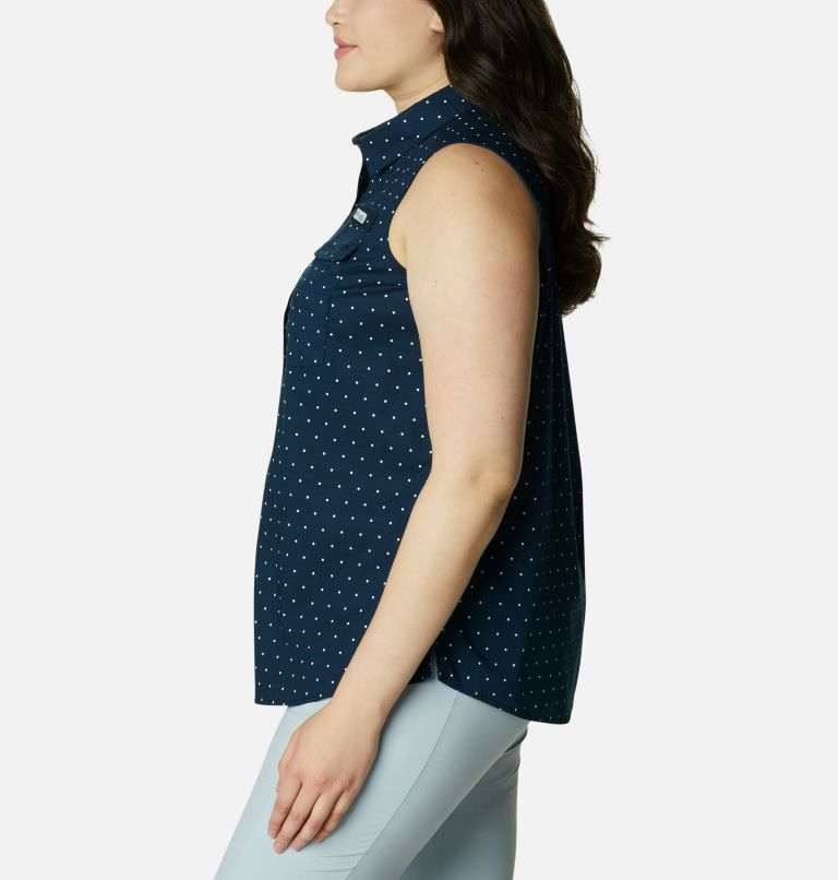 Women's PFG Bonehead™ Stretch Sleeveless Shirt – Plus Size Women's PFG Bonehead™ Stretch Sleeveless Shirt – Plus Size, a1