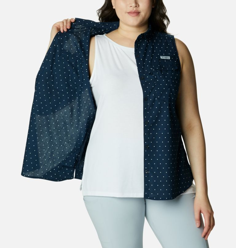 Women's PFG Bonehead™ Stretch Sleeveless Shirt – Plus Size Women's PFG Bonehead™ Stretch Sleeveless Shirt – Plus Size, a3