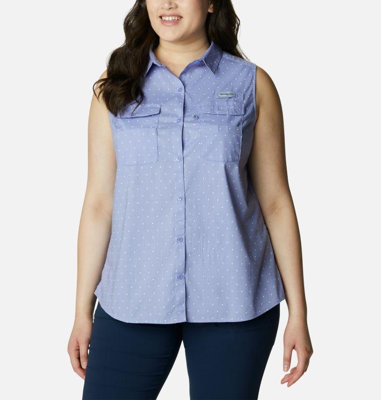 Women's PFG Bonehead™ Stretch Sleeveless Shirt – Plus Size Women's PFG Bonehead™ Stretch Sleeveless Shirt – Plus Size, front