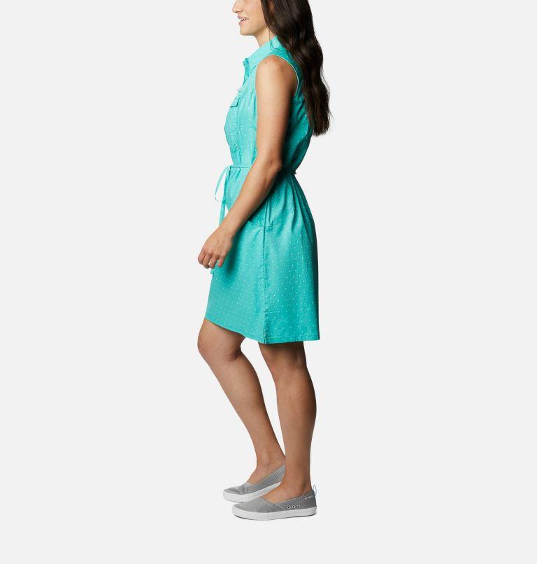 Bonehead™ Stretch SL Dress | 356 | M Women's PFG Bonehead™ Stretch Sleeveless Dress, Dolphin Swiss Dot, a1