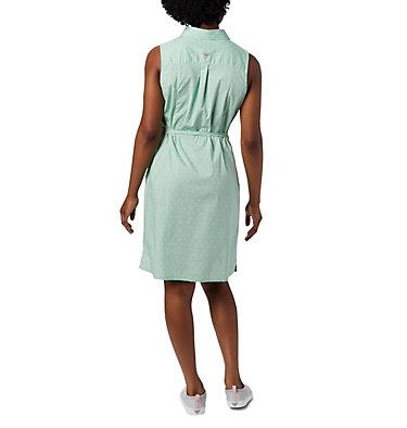 Women's PFG Bonehead™ Stretch Sleeveless Dress Bonehead™ Stretch SL Dress | 658 | L, New Mint Swiss Dot, back