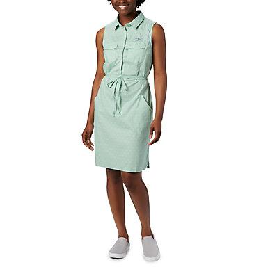 Women's PFG Bonehead™ Stretch Sleeveless Dress Bonehead™ Stretch SL Dress | 658 | L, New Mint Swiss Dot, front