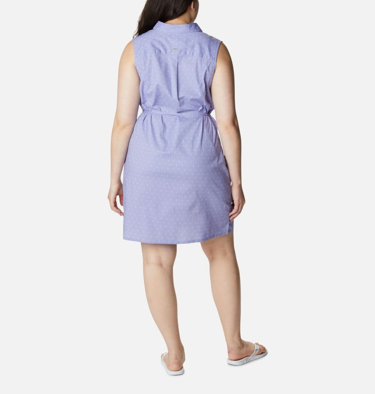Women's PFG Bonehead™ Stretch Sleeveless Dress – Plus Size Women's PFG Bonehead™ Stretch Sleeveless Dress – Plus Size, back