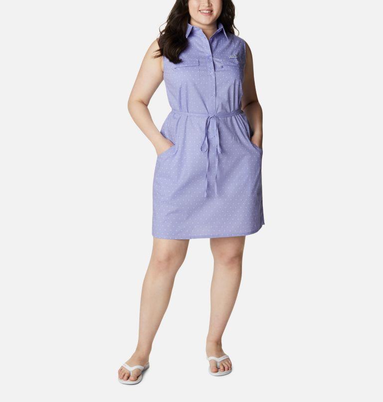 Women's PFG Bonehead™ Stretch Sleeveless Dress – Plus Size Women's PFG Bonehead™ Stretch Sleeveless Dress – Plus Size, front