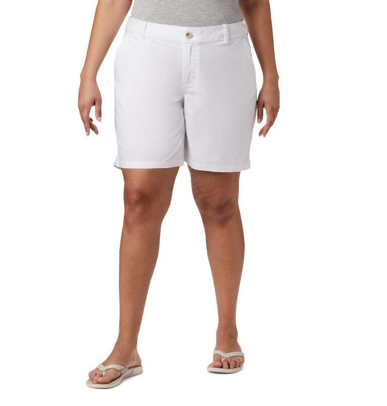 W Bonehead™ Stretch Short | 100 | 18W Women's Bonehead™ Stretch Shorts, White, front