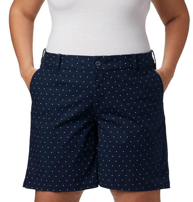 W Bonehead™ Stretch Short | 464 | 24W Women's Bonehead™ Stretch Shorts, Collegiate Navy Swiss Dot, a1