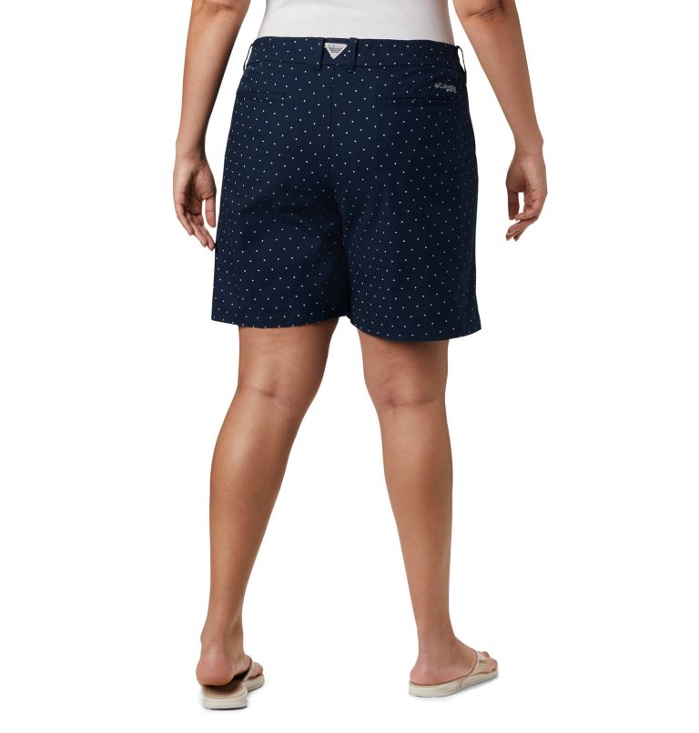 W Bonehead™ Stretch Short | 464 | 24W Women's Bonehead™ Stretch Shorts, Collegiate Navy Swiss Dot, back