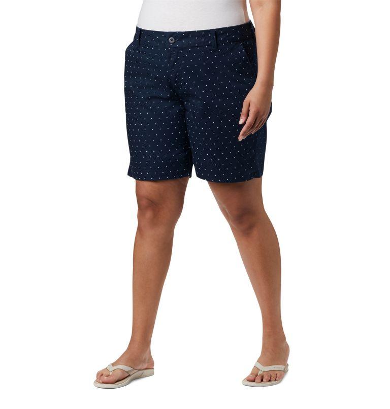 W Bonehead™ Stretch Short | 464 | 24W Women's Bonehead™ Stretch Shorts, Collegiate Navy Swiss Dot, front