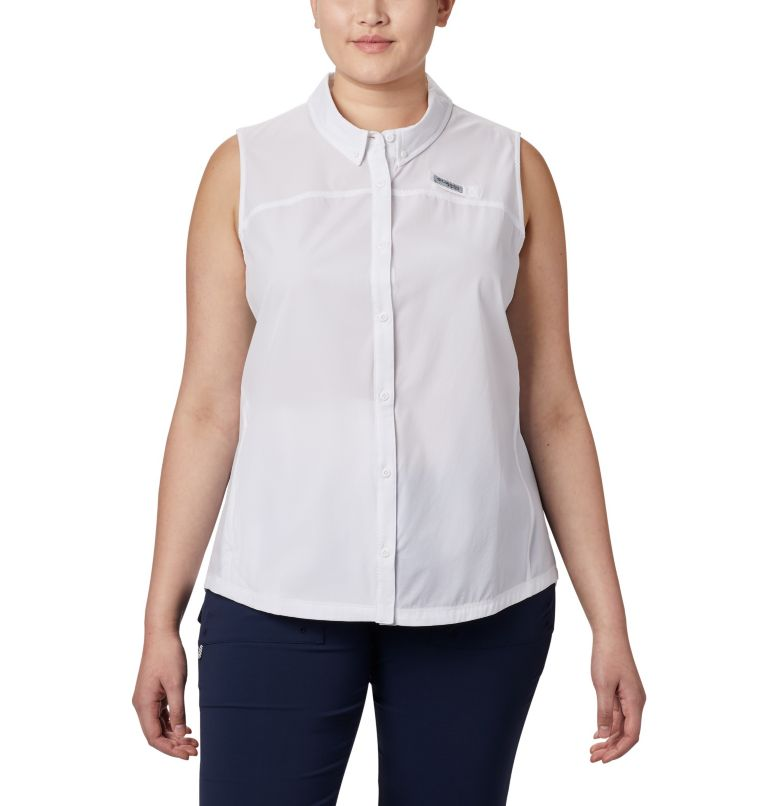 Women's Coral Point™ Sleeveless Woven Shirt – Plus Size Women's Coral Point™ Sleeveless Woven Shirt – Plus Size, front