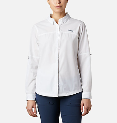 Women's Coral Point™ Long Sleeve Woven Shirt Coral Point™ LS Woven | 658 | L, White, front